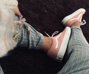 new, pink, and vans image