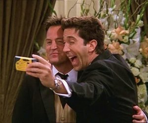 friends, chandler, and ross image