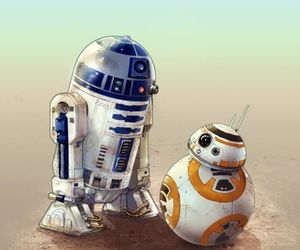 r2-d2, star wars, and bb-8 image