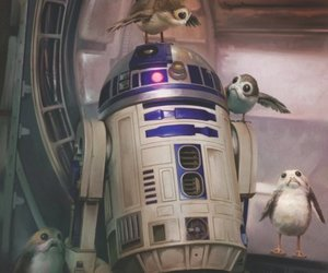 r2-d2, star wars, and porg image