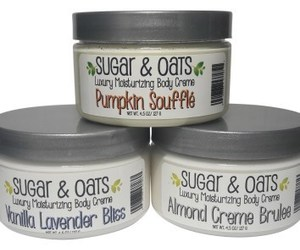 body butter cream, sugar & oats, and natural body butter image