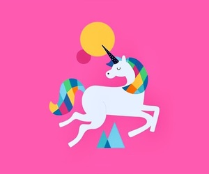 unicorn, pink, and art image