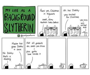 comic, harry potter, and slytherin image