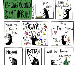 harry potter, comic, and slytherin image