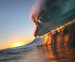 waves, light, and ocean image