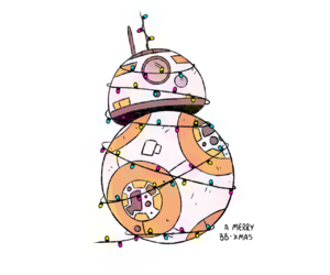 christmas, star wars, and bb 8 image
