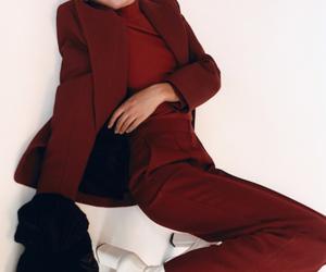 fashion, maroon, and marsala image