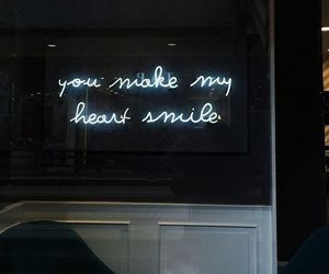 quotes, heart, and smile image