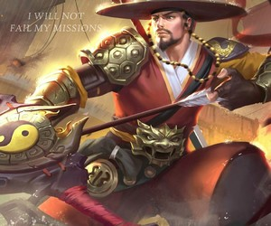 marksman, mobile legends, and yi sun shin image