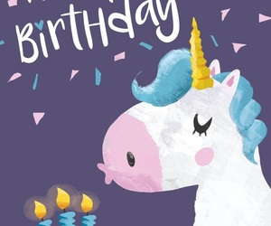 birthday and unicornio image