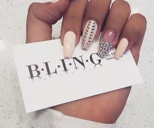 nails, bling, and fashion image