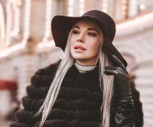 blonde, choker, and city image