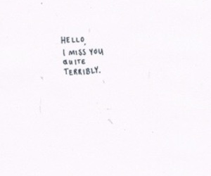 quotes, miss, and hello image