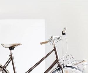 bike, minimal, and white image