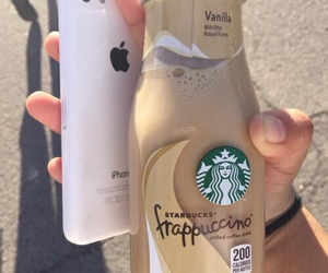 starbucks, iphone, and carefree image