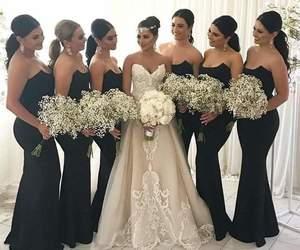 bride, wedding, and black image