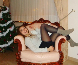 christmas, classic, and sofa image
