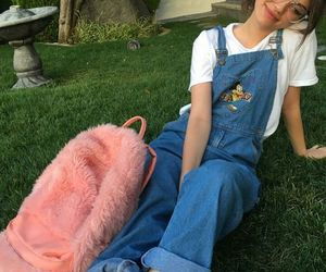 bag, denim, and pink image