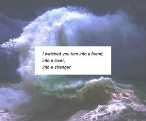 quotes, waves, and love image