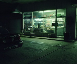 aesthetic, dark, and gas station image