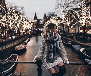 fashion, light, and christmas image