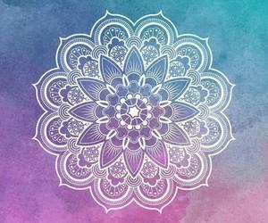 wallpaper, mandala, and colorful image