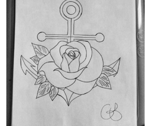 anchor, draw, and pen image