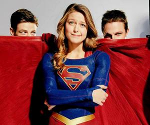 Supergirl, stephen amell, and melissa benoist image