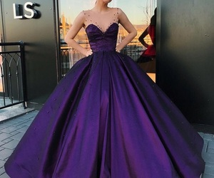 dress, gown, and purple image