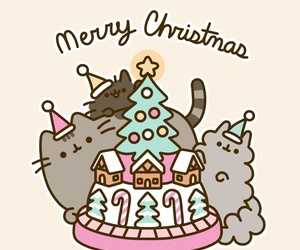 pusheen, cat, and cartoon image