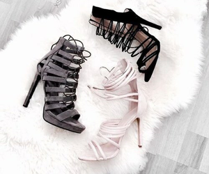 black, shoes, and chic image