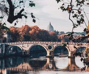 ancient, autumn, and bridge image