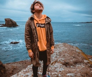 hoodie, sea, and merch image