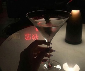 drink, dark, and red image
