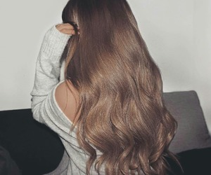 hair, hairstyle, and long hair image