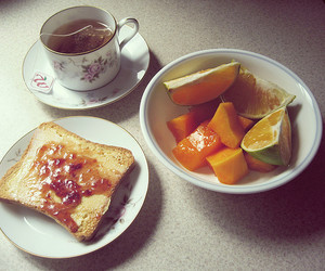 food, plate, and tea image