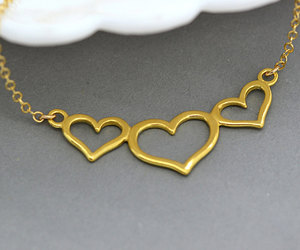 etsy, gold heart, and simple necklace image