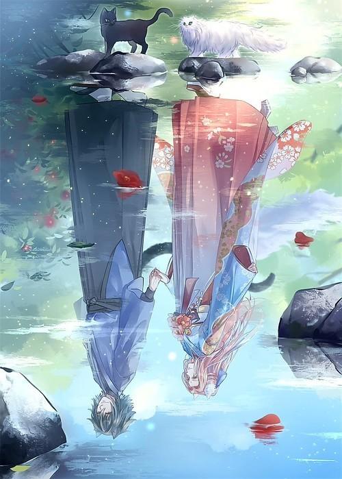 sasusaku, anime, and art image
