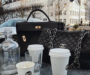 chanel, coffee, and latte image