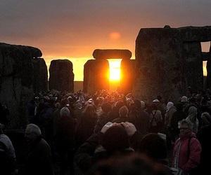 ceremony, solstice, and stonehenge image