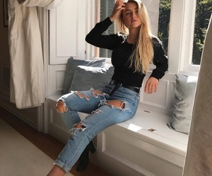 boots, clothes, and denim image