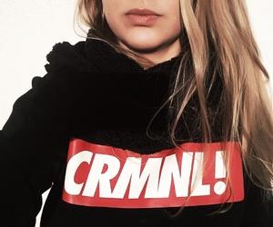 blonde, criminal, and hoodie image