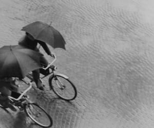bicycle, rain, and vintage image