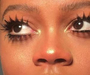 aesthetic, eyelashes, and highlight image