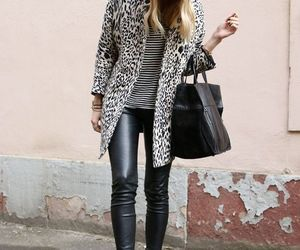fashion, trend, and leather leggings image