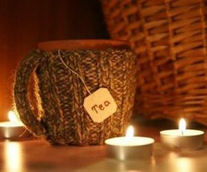 tea, autumn, and candle image