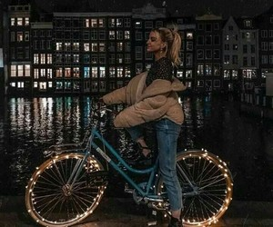 light, girl, and amsterdam image