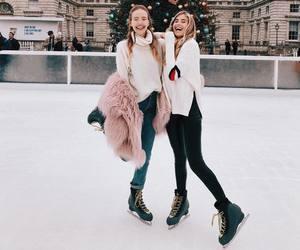 besties, christmas, and friendship image