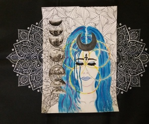 art, drawing, and witch image