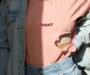 fashion, pink, and Versace image